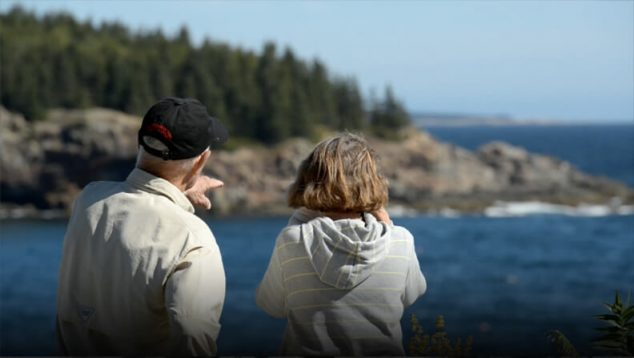 Tourists in Acadia National Park